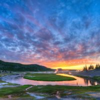 Springtime Sunset Firehole