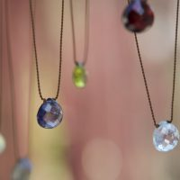 Faceted Drop Necklace