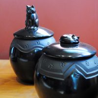 Lidded Cat Jars