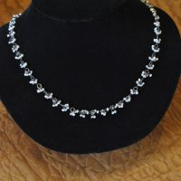 Pearl Silver & Moonstone Bunches Necklace