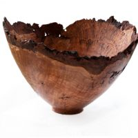 Natural Edge Cherry Burl Bowl 2
