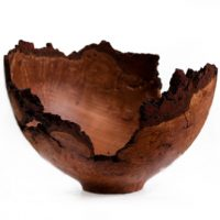 Natural Edge Cherry Burl Bowl V2